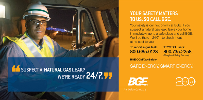 Gas Safety Baltimore Gas And Electric Company