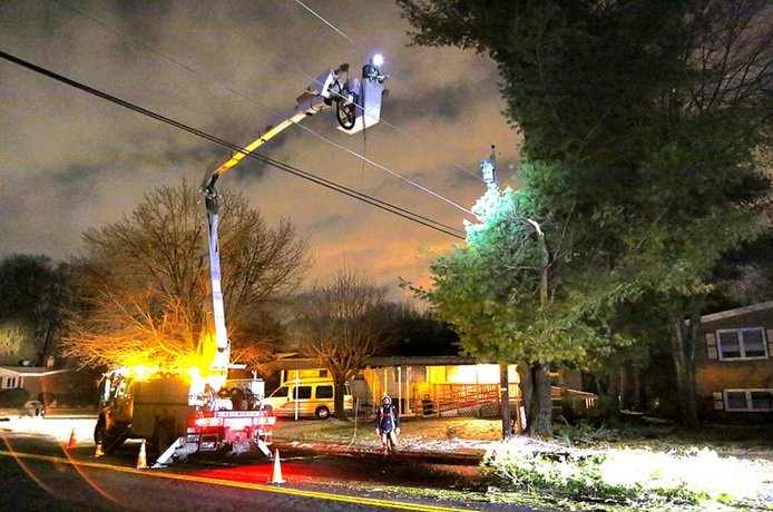 Downed Wires Baltimore Gas And Electric Company