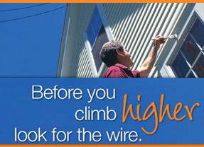 Before you climb higher look for the wire- BGE Overhead Line Safety ad