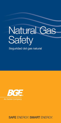 Natural Gas Safety Brochure cover