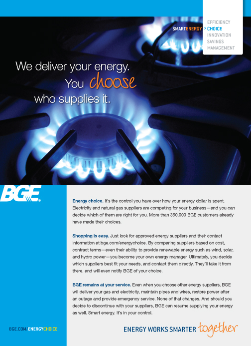 Energy Choice | Baltimore Gas and Electric Company