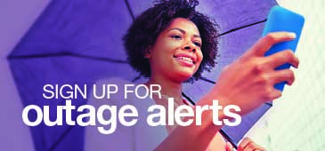 Sign up for outage alerts