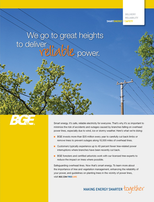 Tree Care Baltimore Gas And Electric Company